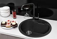 Кухонная мойка гранитная Stella Classic черный