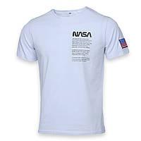 Футболка мужская белая NASA №4 Ф-10 WHT L(Р) 20-815-020-001