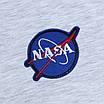 Футболка мужская бел меланж NASA с патчем Ф-10 WTGRI L(Р) 20-814-020, фото 2