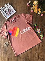 Детская футболка для девочки LIKEE 140, 146, 152  см.