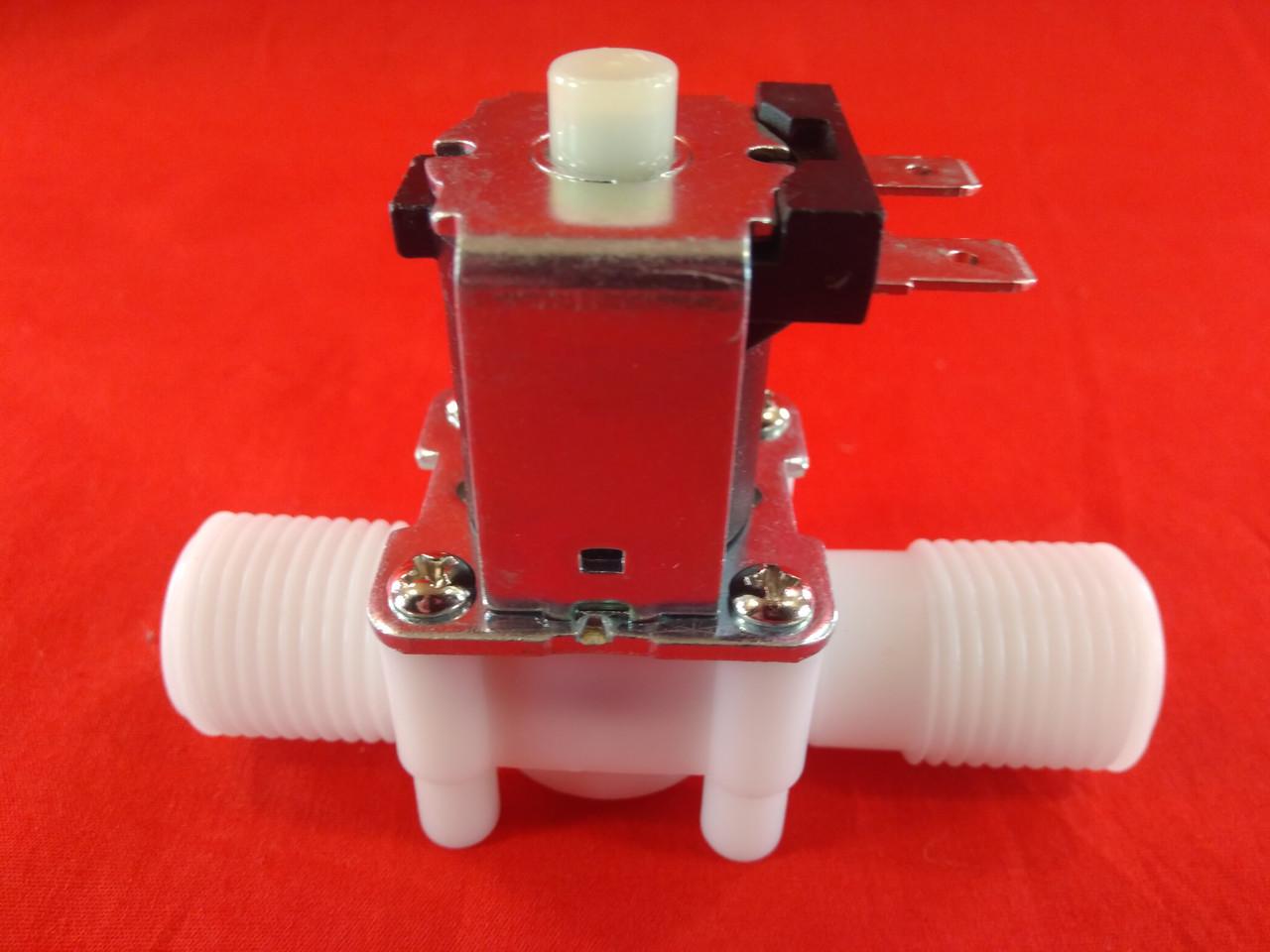 """Електромагнітний клапан 1/2"""" 12В нормально-відкритий пластик"""