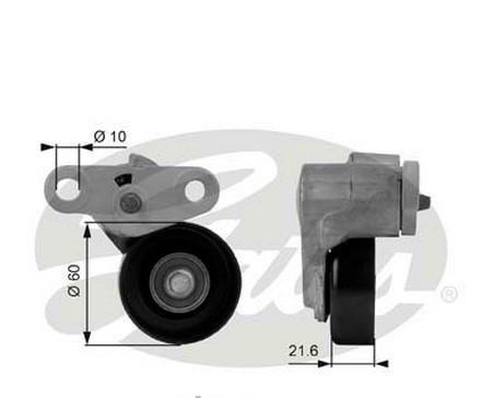 Натяжитель ремня кондиционера GATES T38159 BUICK RAINIER CADILLAC ESCALADE CHEVROLET AVALANCHE  EXPRESS 1500 2