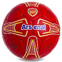 Мяч футбольный 5 размера АРСЕНАЛ ЛОНДОН ARSENAL сшитый вручную красный (СПО FB-0862)
