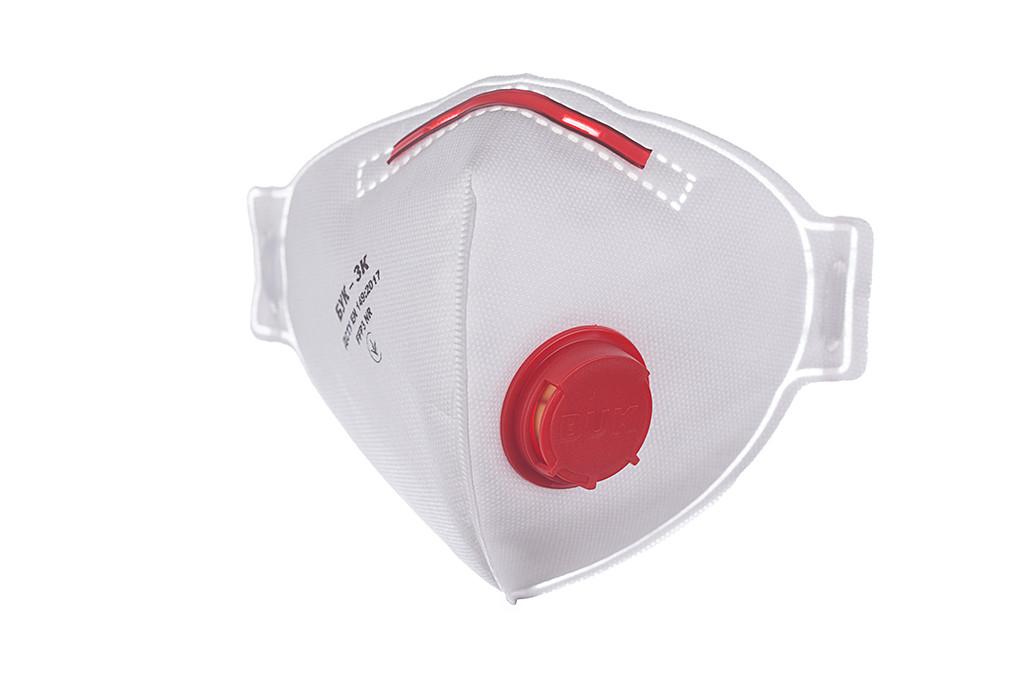 5шт Респиратор БУК-3К (FFP3) с клапаном, полумаска фильтрующая