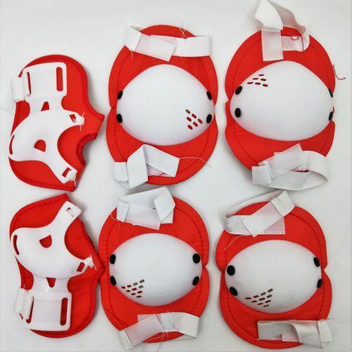 Захист на ролики, скейтборд MS 0032-1 червоний з білим