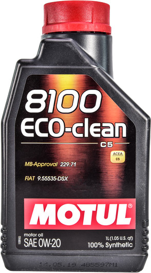 Моторное масло MOTUL 8100 Eco-clean SAE 0W20 (1L)