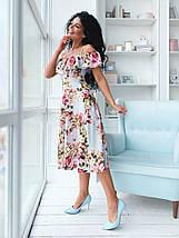 """Летнее  миди-платье в цветочек """"Тереза"""" с оголенными плечами (2 цвета), фото 2"""