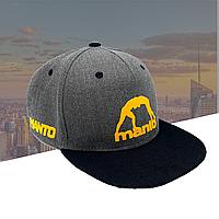 Мужская стильная Бейсболка кепка MANTO черно-серого цвета Германия Серый