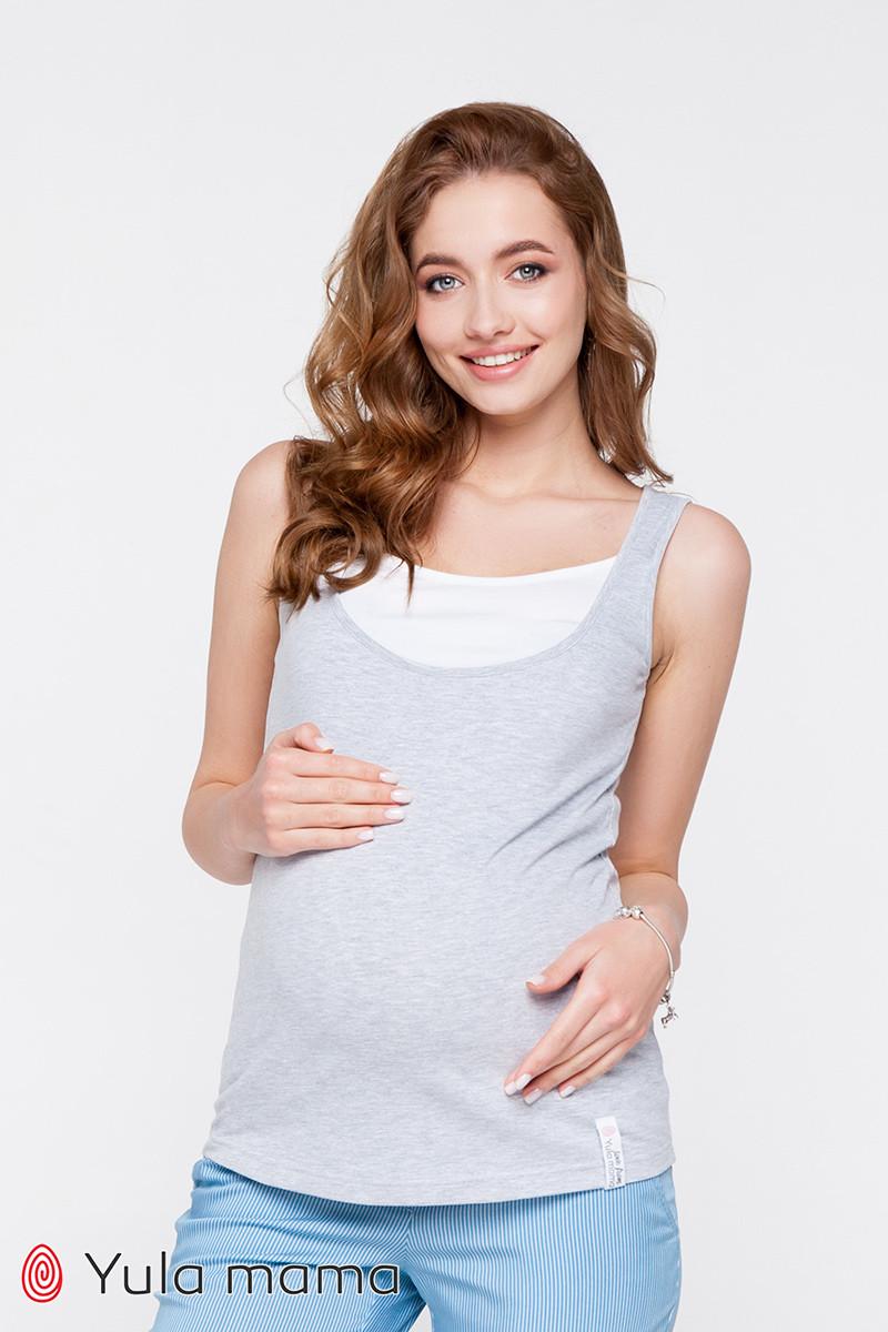 Двухцветная трикотажная майка для беременных и кормящих мам TILLA NR-20.041 (xs)