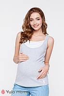 Двухцветная трикотажная майка для беременных и кормящих мам TILLA NR-20.041 (xs, xl)