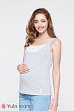 Двухцветная трикотажная майка для беременных и кормящих мам TILLA NR-20.041 (xs), фото 4