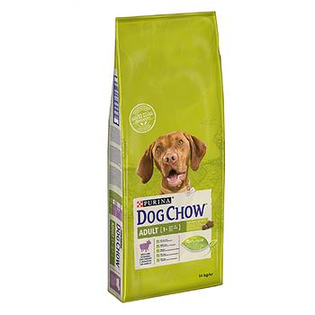 Сухой корм Dog Chow Adult для взрослых собак с ягненком, 14 кг