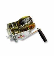 Барабанна лебідка ручна двошвидкісна, 1300кг(сталевий трос, діаметр троса-5мм, довжина троса-10м )