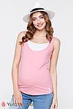 Двухцветная трикотажная майка для беременных и кормящих мам TILLA NR-20.042 (s, xl), фото 3