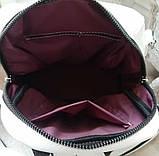 Женский рюкзак сумка из эко кожи стильный. Красный, фото 2