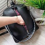 Женский рюкзак сумка из эко кожи стильный. Красный, фото 3