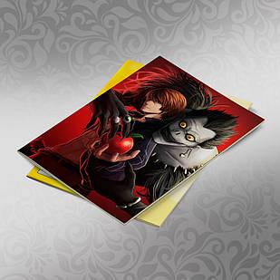 Скетчбук А5 кремові листи Death note 30 аркушів 002