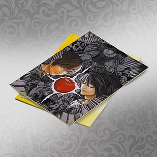 Скетчбук А5 кремові листи Death note 30 аркушів 003