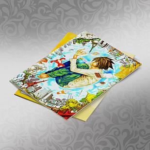 Скетчбук А5 кремові листи Death note 30 аркушів 006