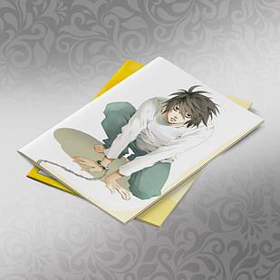 Скетчбук А5 кремові листи Death note 30 аркушів 008