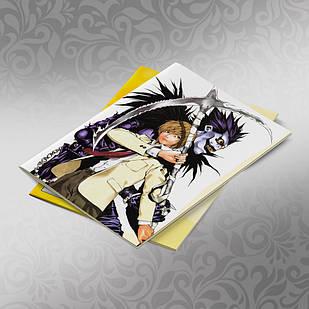 Скетчбук А5 кремові листи Death note 30 аркушів 010