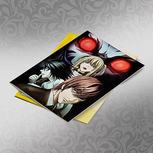 Скетчбук А5 кремові листи Death note 30 аркушів 011
