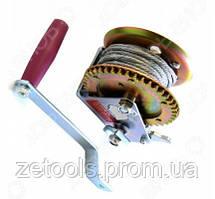 Барабанна лебідка ручна, 450кг(сталевий трос, діаметр троса-4.5 мм, довжина троса-10м )