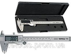 Штангенциркуль електронний, l = 150 мм, точн. +- 0,03 мм YATO YT-7201