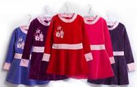 Велюровое платье для девочки Дина (2-6 лет)