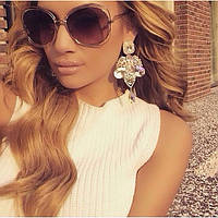 Солнцезащитные очки Chloe коричневые., фото 1