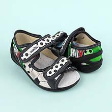 Открытые текстильные босоножки на мальчика футбол текстильная обувь тм Waldi размер 23,26,28,29,30