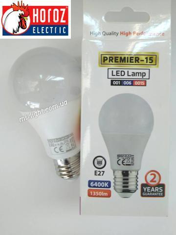 Led лампа 15W E27 6400K Horoz Electric Premier-15
