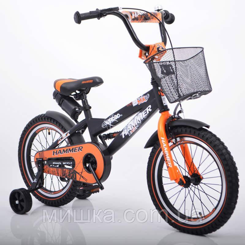 """Велосипед детский 16"""" S600 черно-оранжевый"""