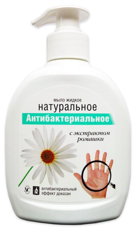 Жидкое мыло антибактериальное Натуральное, с экстрактом ромашки Невская Косметика 300 мл (1411)