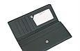 Женский кожаный удобный кошелек (1031) темно зеленый, фото 2