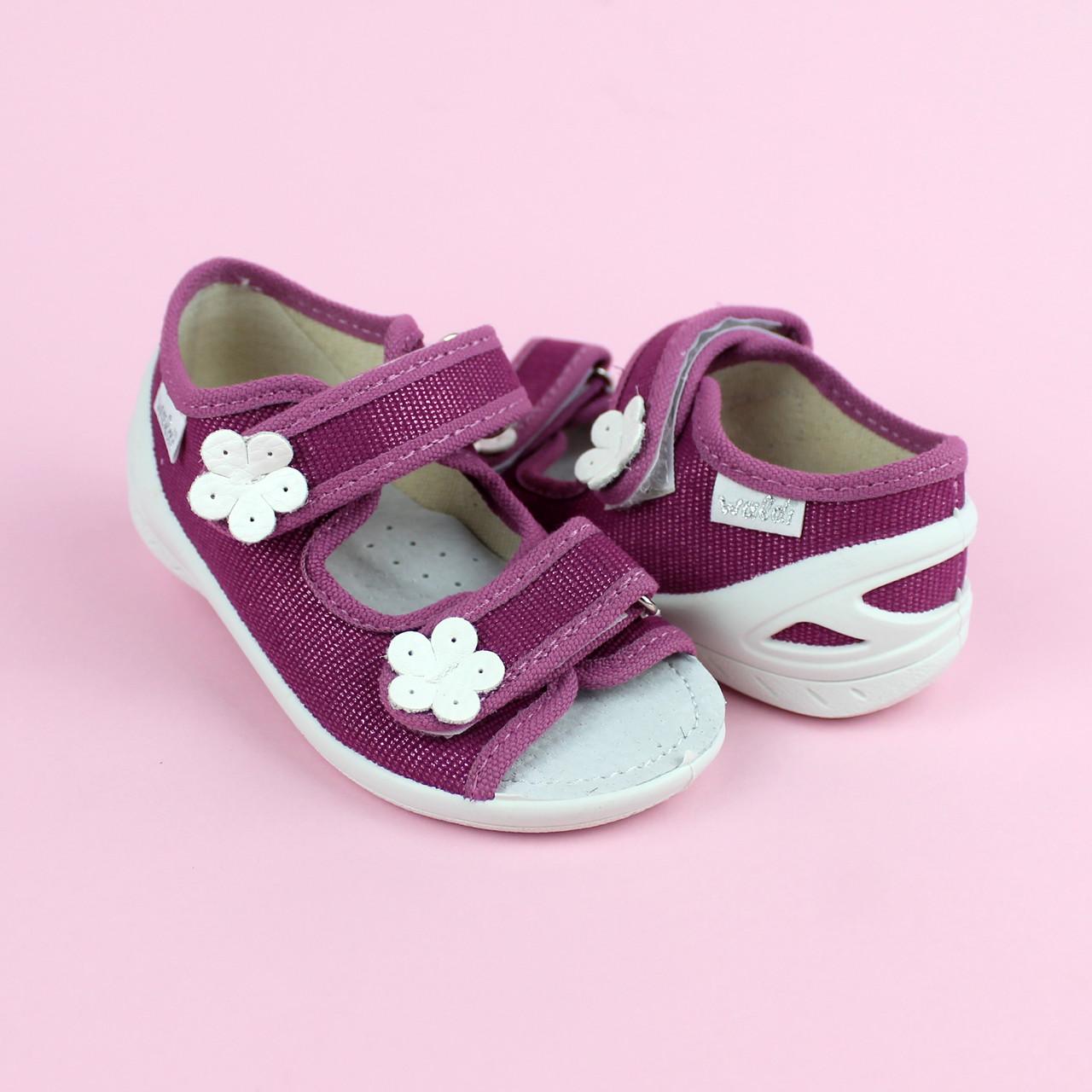 Детские текстильные туфли тапочки Марина тм Waldi размер 27,30