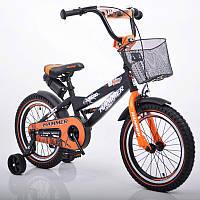"""Велосипед детский 16"""" S600 черно-оранжевый, фото 1"""