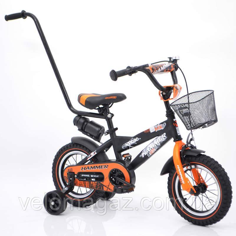 """Велосипед детский """"HAMMER-12"""" S600 черно-оранжевый"""