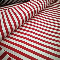 Ткань Лён принт HTN-013 красный