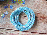 Полый шнур в блестках, цвет ГОЛУБОЙ, 1 м, фото 1