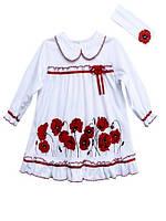 Платье для девочки с маками