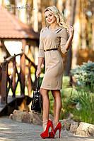 Платье, которое создаст классический образ современной деловой леди, оригинальные складки на талии и плече , фото 1
