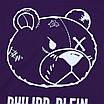 """Футболка мужская фиолетовая PHILIPP PLEIN с принтом """"МИШКА"""" Ф-10 PUR L(Р) 19-623-020, фото 2"""