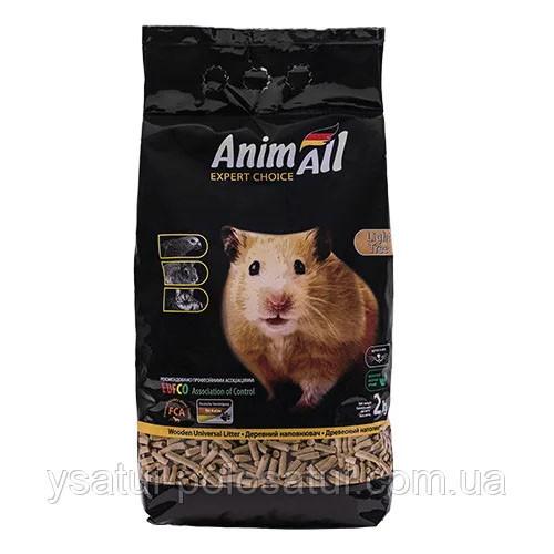 Древесный наполнитель Animall для котов 2 кг Энимал