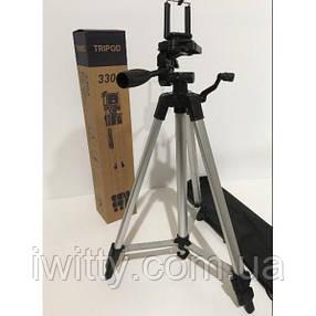 Штатив TRIPOD TF-330A універсальний для камери або смартфона, фото 2