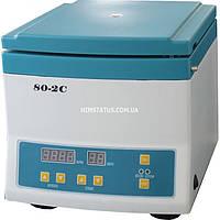 Центрифуга лабораторна 80-2С (цифрова, безщітковий мотор, 4000 об/хв, 12*20мл, таймер, 2325g)