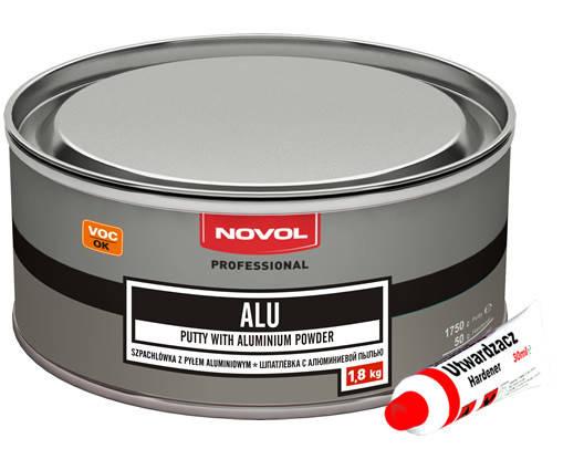 Шпатлевка с алюминиевым порошком Novol ALU 1,8 кг, фото 2
