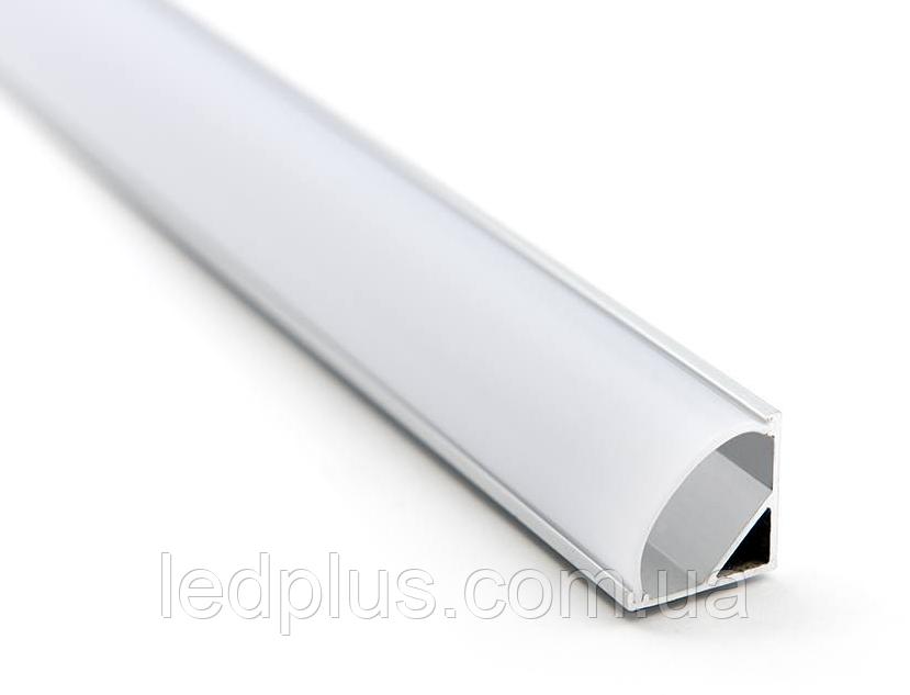 Профиль ПРЕМИУМ угловой АЛП1616 белый + рассеиватель матовый