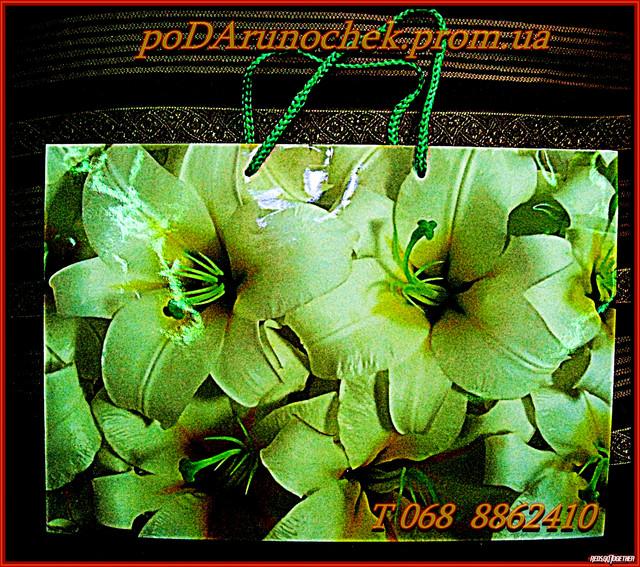 пакет цветы