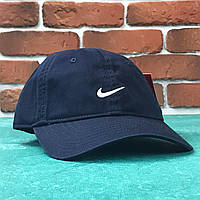 Кепка бейсболка Nike Темно-синяя с белым лого